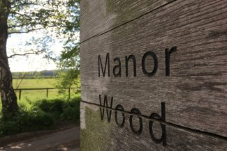 Sign for Manor Wood, Letchworth