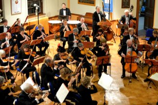 Letchworth Sinfonia playing in concert