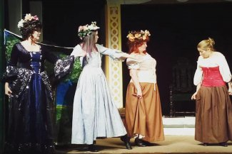 Settlement Players on stage during a recent production