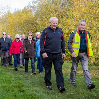 Walkers enjoying the Greenway