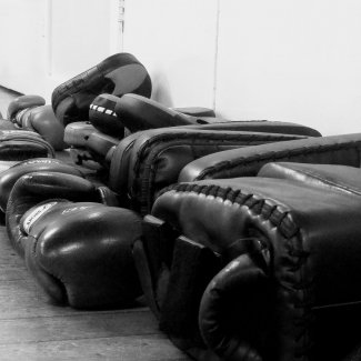 Boxing pads of Impakt kickboxing