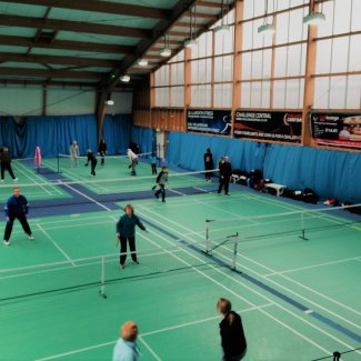 North Herts Pickleball plaing indoors