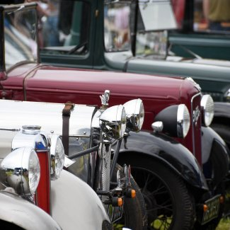 Vintage Car Festival, front of some classic cars