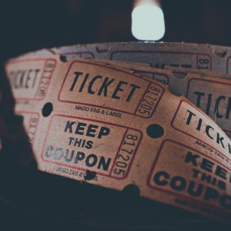 Cinema tickets in a reel