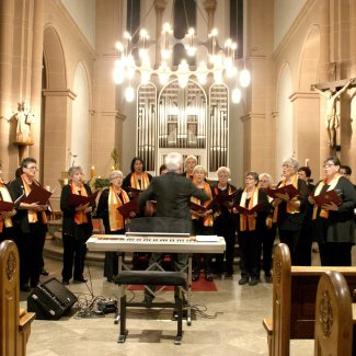 Choir group in a church