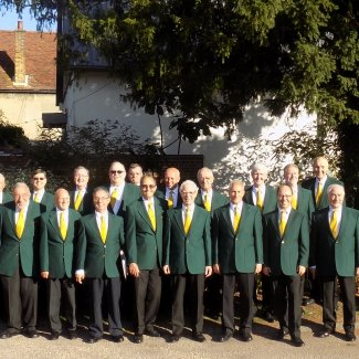 Stevenage Male Voice Choir outside