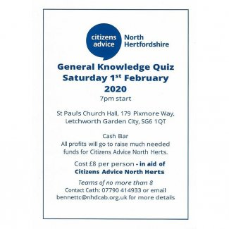 Citizens Advice Quiz Night